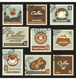 coffee postal vector image vector image