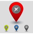 colorful navigation sign with plane vector image vector image