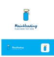 creative water shower logo design flat color logo vector image