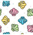 cute sea shell pastel seamless pattern vector image vector image