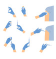 doctors hands with syringe vector image
