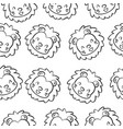 doodle lion animal design collection vector image vector image