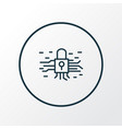 encryption icon line symbol premium quality vector image