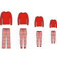 family pajamas suit jumper and striped pants vector image