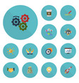 flat icons break rocket limit and other vector image vector image