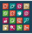 flat sports and fitnes icons set vector image