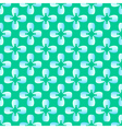 Flower blue tooth on the green seamless pattern vector image