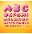 font made from balloons Alphabet vector image vector image