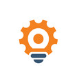 gear tool light bulb logo icon vector image vector image