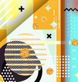 Geometric symbols background memphis for fashion vector image vector image