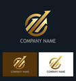 gold arrow progress logo vector image vector image