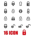 grey locks icon set vector image vector image