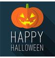Halloween party Flat design mock up vector image vector image