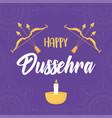 happy dussehra festival india bow arrows vector image vector image