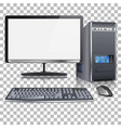 high detailed modern computer vector image vector image