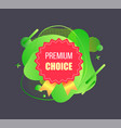 high quality premium choice advertising vector image vector image
