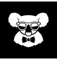 Hipster Cute Koala in Glasses and Bow Tie Simple vector image