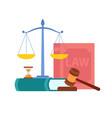 law order court symbols vector image vector image