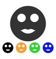 lips smiley icon vector image vector image
