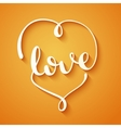 Love calligraphy vector image