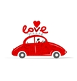 Love red car for your design vector image vector image