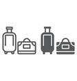 luggage line and glyph icon travel and baggage vector image vector image