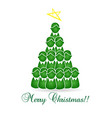 merry christmas tree kids and children vector image vector image
