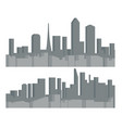 modern cityscape urban silhouette landscape city vector image