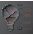 Modern template infographics design with lightbulb vector image vector image