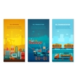 Petroleum Industry Vertical Banners Set vector image vector image