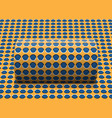 polka dot cylinder is rolling along the inclined vector image vector image