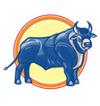 powerful horned fantasy bull vector image vector image
