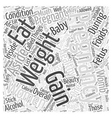 pregnancy weight gain Word Cloud Concept vector image vector image