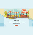 restaurant with outdoor seating website vector image vector image