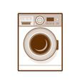 retro washing machine vector image vector image