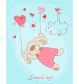 romantic love card vector image vector image