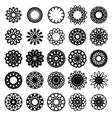 Round Symbols Set vector image