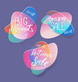 sale badges and special offer tags creative vector image vector image
