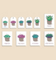set of cute postcards and tags with hand drawn vector image