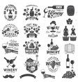 set winer company badge sign or label vector image