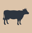 sign cow vector image vector image