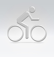 Silver cyclist icon vector | Price: 1 Credit (USD $1)
