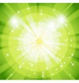 Star burst and sunbeam green background vector image vector image