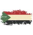 sudanese grunge flag vector image vector image