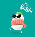 sushi character fashion vector image vector image
