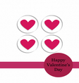 Valentine card Paper Cut Style vector image vector image