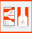 vertical double-sided black and red modern vector image