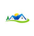 villa house realty village logo vector image