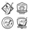Vintage Sanitation Emblems vector image vector image