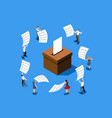 voting choice vote concept vector image